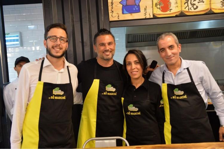 Smail Haddioui, Mehdi Hsissen, propriétaires et Hasnaâ Laksid, directrice administrative et Yassir Ferssiwi, directeur Achats et Opérations