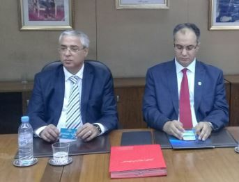 Khalid Cheddadi, PDG de la CIMR et Mohamed Jerrar, président de l'Ordre National des Médecins Dentistes