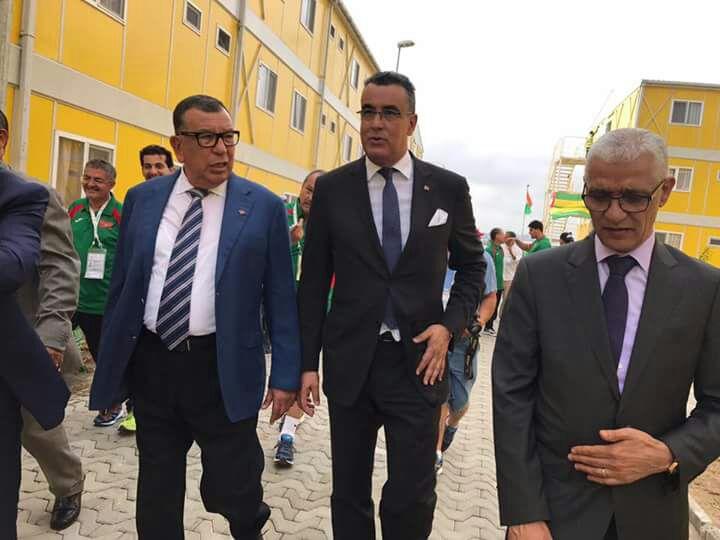 Kamal Lahlou, vice-président du CNOM, Abdelmalek Kettani, ambassadeur du Maroc en Côte d'Ivoire et Rachid Talbi Alami, ministre de la Jeunesse et des Sports