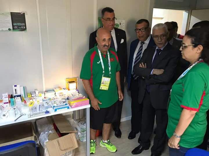 Abdelmalek Kettani, ambassadeur du Maroc en Côte d'Ivoire, Kamal Lahlou, vice-président du CNOM et Rachid Talbi Alami, ministre de la Jeunesse et des Sports