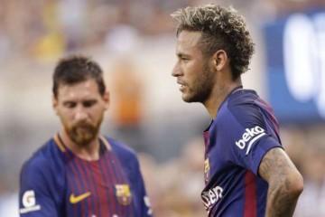 Lionel Messi et Neymar da Silva Santos Junior, joueurs du FC Barcelone