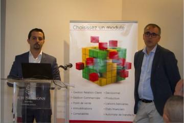 Samir Benhssain, DG de Bg Partners et Philippe Villain, PDG de WaveSoft