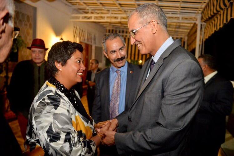 Jennifer Rasamimanana, consule générale des États-Unis au Maroc et Abdelkbir Zahoud, wali de la région Casablanca-Settat