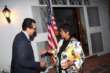 Rafik Lahlou, directeur de publication de VH Magazine et Jennifer consule générale des États-Unis au Maroc
