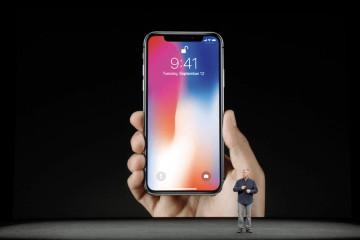 Présentation de l'iPhone X lors de la keynote de Apple 2017.
