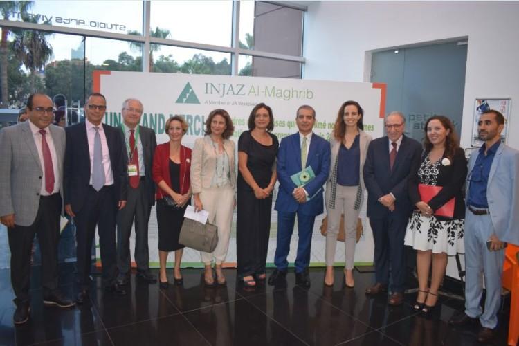 Mohamed Abdellatif Kissami, directeur RSE chargé des activités sociales et sociétales de Managem, Taoufik Rabbaa, PDG de Citibank Maghreb, Dominique Vastel, directeur des Projets Maroc de la SNCF, Radia Guarrigues, directrice exécutive de Injaz Gabon, Abla Benabdallah, directrice du Capital Humain de la SNI, Laïla Mamou, PDG de Injaz Al-Maghrib, Hassan Ouriagli, président de la SNI, Hind Mejjati Alami, directrice de la Communication de Vico Energy Maroc, Jaouad Cheikh Lahlou, PDG de Cooper Pharma et Amina Benamar, responsable du pôle Éducation & Soutien aux associations de la Fondation Attijariwafa Bank