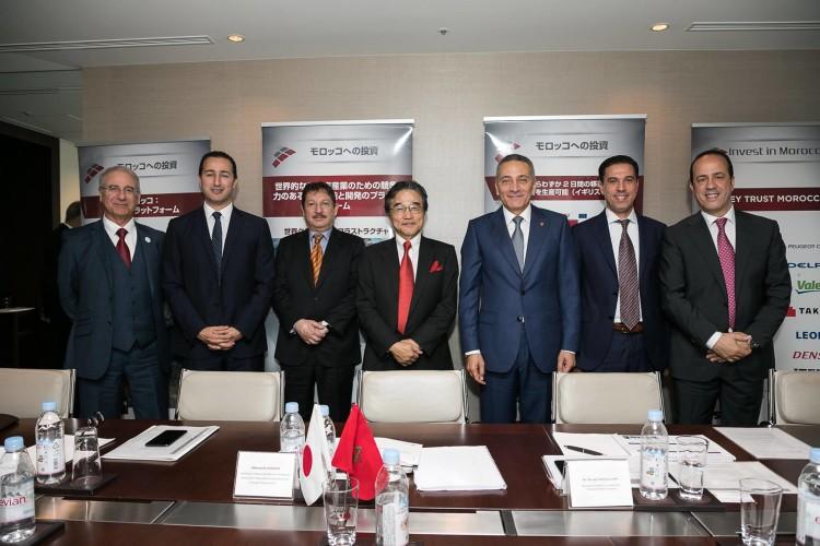 Réunions de travail avec des industriels japonais (Yazaki, Panasonic, Mitsui...) à Tokyo.