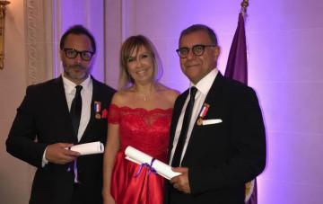 Najib Abdelhak, écrivain, Nadia Chellaoui, ambassadrice de Divine Académie et Mohamed Kohen, auteur