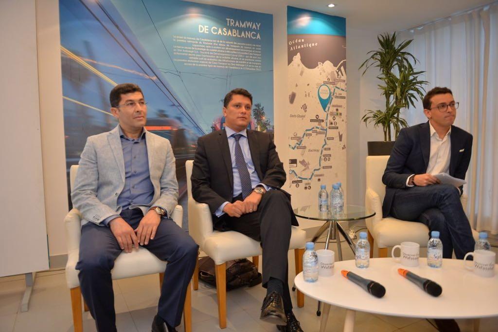 Hicham Bennouna, DG de Auto Warehouse, Adil Bennani, président de l'AIVAM et Badr Bousslikhane, directeur commercial de Avito