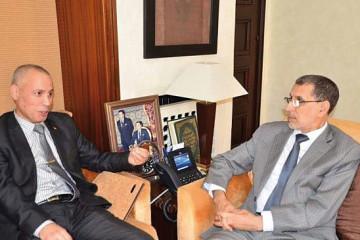 Abdellah El Fergui, président de la Confédération marocaine des TPE-PME et Saâdeddine El Othmani, Chef du gouvernement