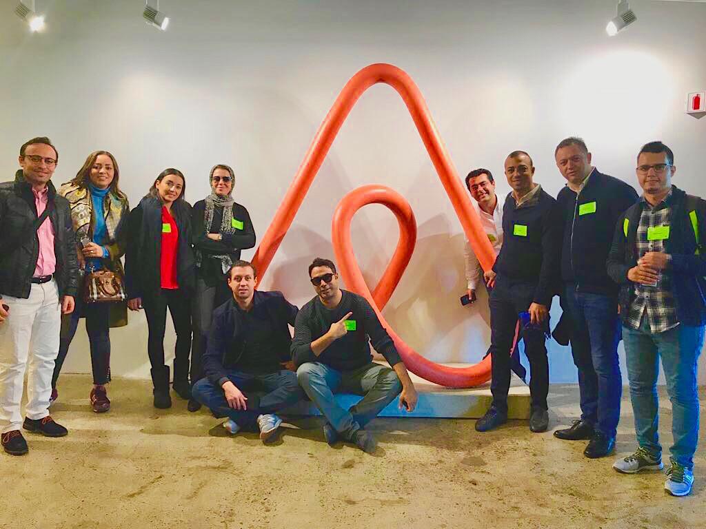Startupeurs marocains au siège de Airbnb
