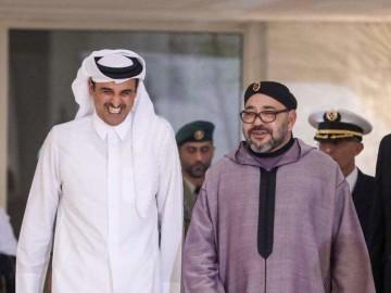 Cheikh Tamim Ben Hamad Al Thani, émir du Qatar et SM le roi Mohammed VI