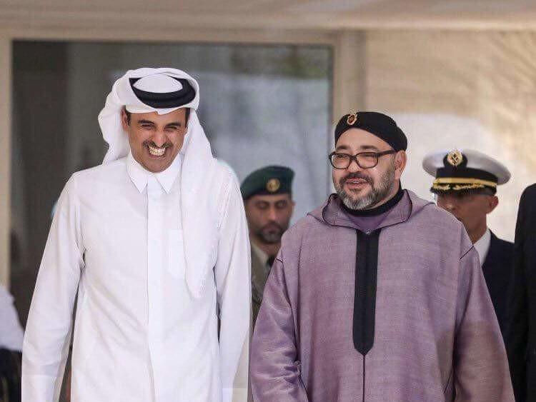 Cheikh Tamim Ben Hamad Al Thani émir du Qatar et SM le roi Mohammed VI