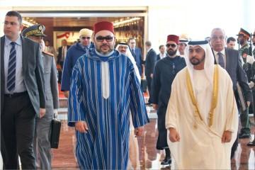 SM le roi Mohammed VI et SA Cheikh Hamdane Ben Zayed Al-Nahyane