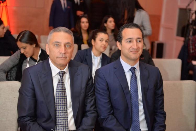 Moulay Hafid Elalamy, ministre de l'Industrie, de l'Investissement, du Commerce et de l'Économie numérique et Othman El Ferdaous secrétaire d'état à l'Investissement