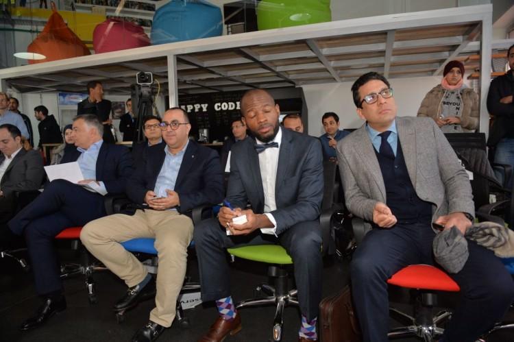 Emmanuel Exposito, COO de Afineety, Nawfal Fassi-Fihri, DG de Endeavor Morocco, Chigozie Okocha, conseiller économique au consulat des États-Unis et Rafik Kamal Lahlou, directeur de publication de VH
