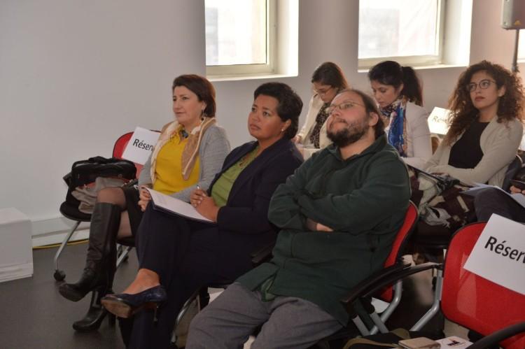 Meya Zghari, responsable de la transformation digitale & Smart Up de Attijariwafa bank, Jennifer Rasamimanana, consule générale des États-Unis et Adnane Addioui, directeur d'Enactus Morocco