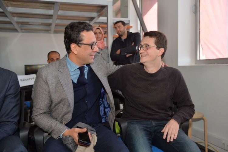 Rafik Lahlou et Mehdi Alaoui, fondateur de ScreenDy