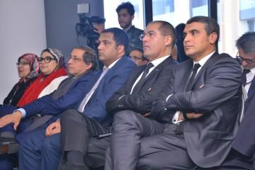 Hamid Ben Elafdil, directeur de l'AREP du conseil de la région de Casablanca-Settat, Mounir Jazouli, président du Groupement des Annonceurs du Maroc, Khalid Safir, wali, directeur général des Collectivités Locales et Mohamed Jouahri, DG de Casablanca Events & Animation