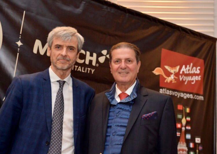 Pascal Portes, directeur général des Opérations de Match Hospitality et Othman Cherif Alami, gérant d'Atlas Voyages
