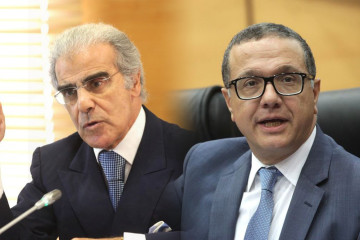 Abdellatif Jouahri, Wali de Bank Al-Maghrib et Mohamed Boussaid, ministre de l'Économie et des Finances