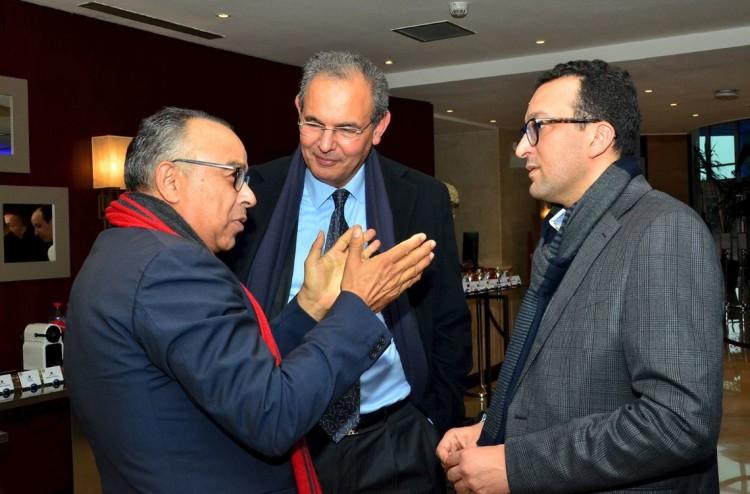Hammad Kassal, ex-président de la Fédération des PME de la CGEM, Karim Hajji, DG de la Bourse de Casablanca et Adil Lahlou, directeur de la publication de Challenge