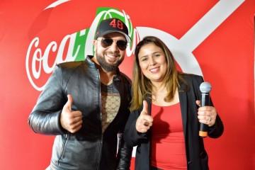 Abdelhafid Douzi, artiste et Imane Belmejdoub, directrice marketing de Coca-Cola maroc