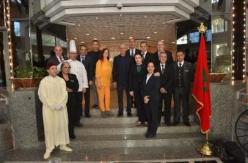 Alex Kyriakidis, président et directeur général de Marriott International Moyen-Orient et Afrique lors de sa réception au Sheraton Hotel Casablanca.