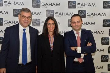 Raymond Farhat, administrateur de Saham Group, Nadia Fetah, DG de Saham Finances et Moulay Mhamed Elalamy, administrateur de Saham Group