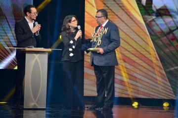 Samid Ghailan, animateur des Mars d'Or, Nawal El Moutawakel, championne olympique et Kamal Lahlou, vice-président du CNOM