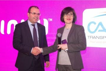 Youssef Draiss, DG de Casa Transport et Nadia Fassi Fehri, PDG de inwi
