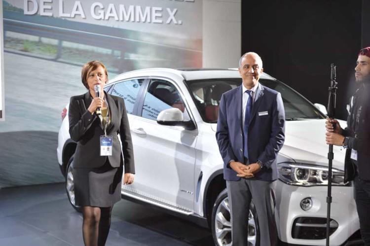 Majdouline Chafai El Alaoui, directrice de marque et Aziz Rochdi, directeur commercial de BMW et Mini Maroc.