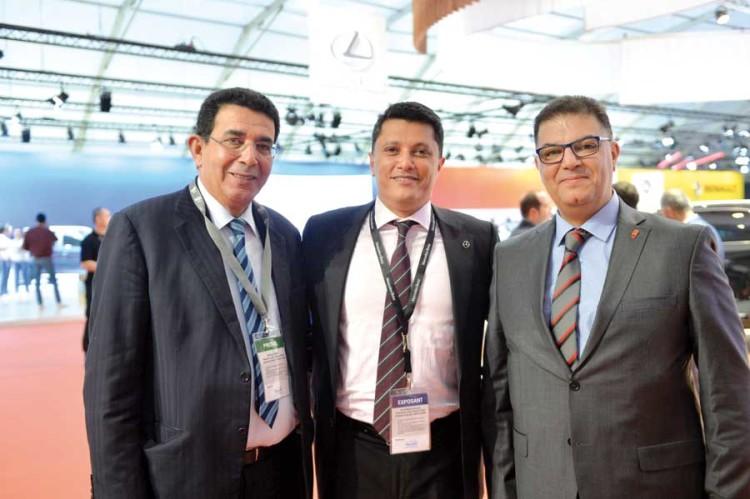 Omar Magoul, DG de Interworld, Adil Bennani, président de l'AIVAM et Mohamed Maarouf, DG de BTI Bank.