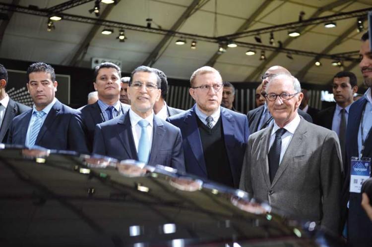 Adil Bennani, Président de l'AIVAM, Saâdeddine El Othmani, Chef du Gouvernement et Mohamed Najib Boulif, Secrétaire d'Etat au Transport.