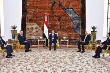 Le président Abdel Fattah al-Sissi recevant Habib El Malki