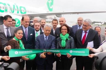 Mohamed Sajid, ministre du Tourisme, lors de la cérémonie d'inauguration du vol Paris-Rabat de Transavia France