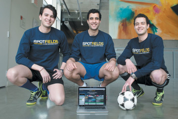Adnane, Yassine et Younes Chaabi, fondateurs de Spotfields