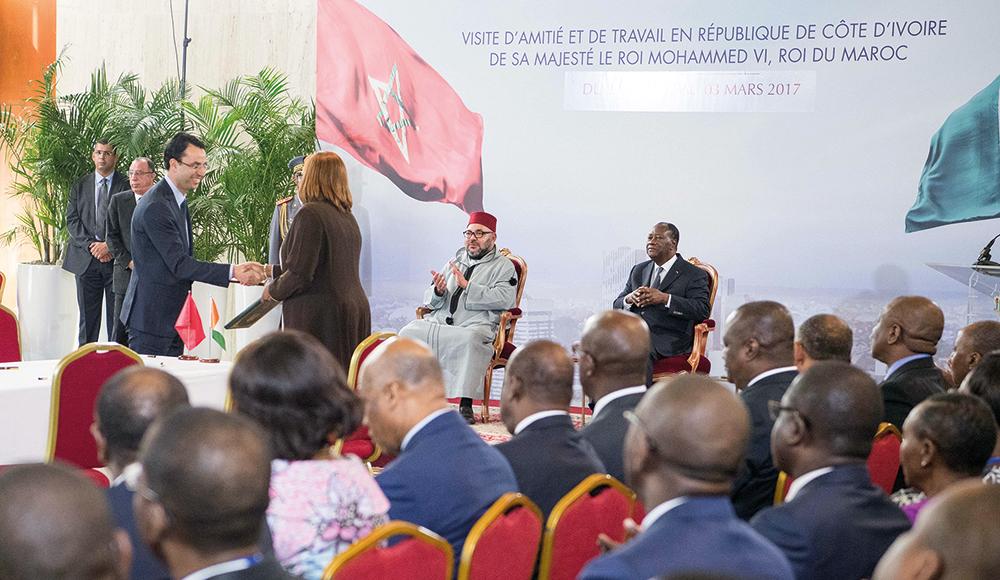 Visite d'amitié et de travail en Côte d'Ivoire du Roi Mohammed VI, en mars 2017.