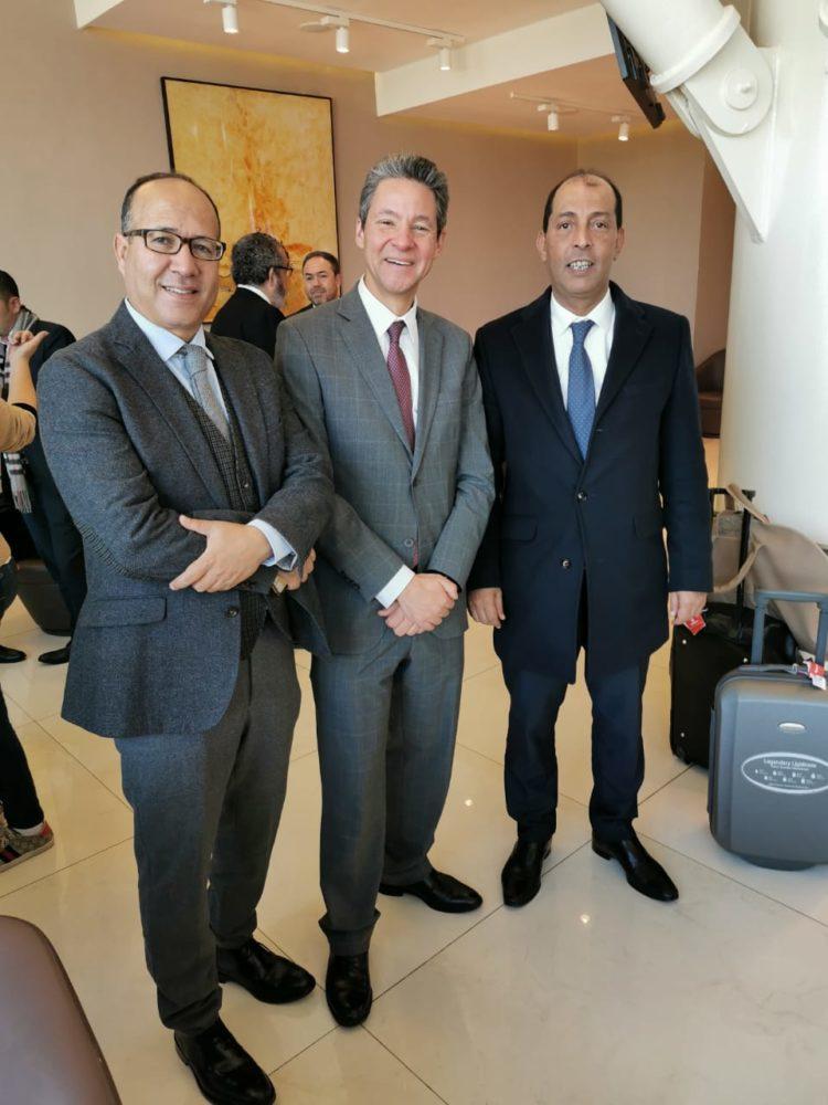 Abdelhakim Challot, Directeur de la Communication Extérieure, Othmane Bekkari, Directeur du pôle Client de la RAM et Abdelghani El Aissoug, Directeur commercial de la RAM